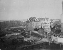 Widok w kierunku ul. Spacerowej, ok. 1922