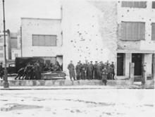Woronicza, szkoła, ok. 1943