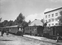 Belwederska - stacja kolejki 1953