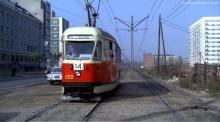 Czerniakowska, tramwaj 14, ok. 1970