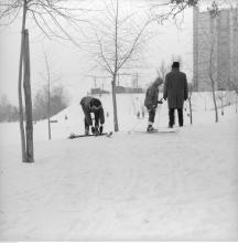 Park Morskie Oko zimą ok. 1970