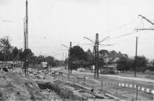 Powsińska, remont, tramwaj, 1973