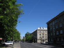 Rakowiecka róg Wiśniowej w kierunku Puławskiej