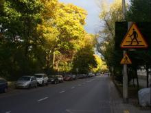 Odyńca w kierunku Puławskiej, poprawiony znak drogowy
